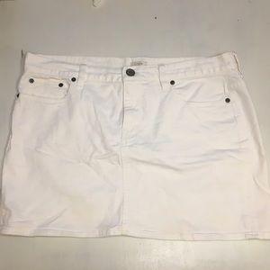 J.Crew White Denim Mini Skirt